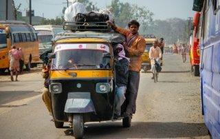 tuk tuk o rickshaw in India